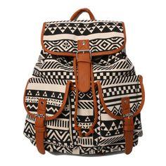 Brown Aztec Backpack