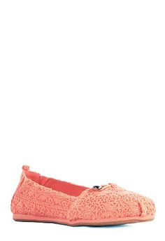 Noey is a super cute flat! They're perfect for a pop of color!!! #justfabonline
