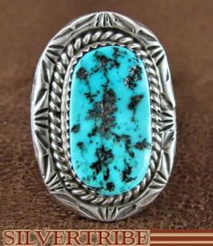 Native American Jewelry. Sleeping Beauty Turquoise. Turquoise Ring. SilverTribe