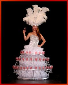 Event Entertainment Ideas - Welcoming Entertainment Act - Elegant Champagne Skirt Hostess to add a unique touch of class to any event.   Based in Cape Town, South Africa and popular as Wedding Entertainment and Corporate Entertainment. #evententertainmentideas #entertainmentideas #weddingentertainment #corporateentertainment