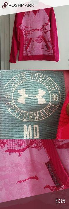 Under Armour Pink Hoodie Flower Print new no tags Under Armour Tops Sweatshirts & Hoodies