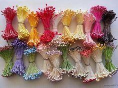 Double Headed Flower Plain Colour Stamen by LovelyWeddingCrafts, $3.00