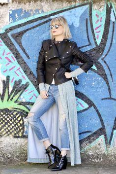 Wrap Dress - Le Fashion Quotidien - Tay Borges - Vestido Envelope - Jaqueta Couro- Long Dress - Vestido Longo