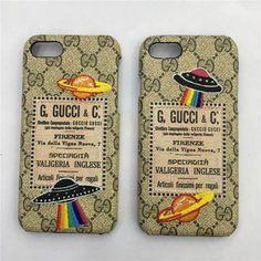 Gucci グッチ iphone8 ケース iPhone 7/7 plus/6 カバー 刺繍スタイル UFO エイリアン 宇宙 絶妙な手触り