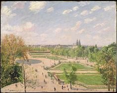 Camille Pissarro, (French,1830–1903). The Garden of the Tuileries on a Spring Morning, 1899. The Metropolitan Museum of Art, New York. Partial and Promised Gift of Mr. and Mrs. Douglas Dillon, 1992 (1992.103.3) #spring