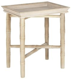 Safavieh Furniture AMH1501A - Exuding classic British good taste, the Norton side table combines a tray top for entertaining with beautifully crafted legs and base simulating bamboo. Th