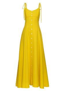 Rosie Assoulin High Garden button-down gown Simple Dresses, Pretty Dresses, Beautiful Dresses, Casual Dresses, Fashion Dresses, Long Dresses, Long Summer Dresses Casual, Maxi Dresses, Chiffon Dresses