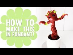 """▶ How to Make a Baby """"Groot"""" Sapling Cupcake (from Guardians of the Galaxy) - Cake Decorating Tutorial - YouTube"""
