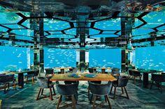 Anantara Kihavah Maldives Villas Underwater Restaurant