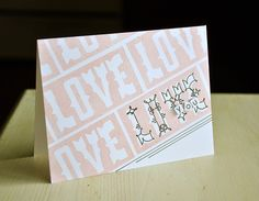 Love You Card by Maile Belles for Papertrey Ink (December 2014)