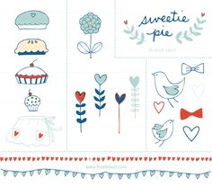 CLIP ART - Sweetie Pie - for commercial and personal use