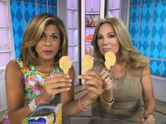 Hoda and KathieLee with Hoda and KathieLee cookies on National Animal Cookies Day