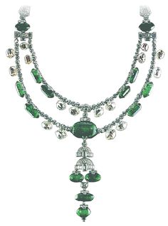 Spanish Inquisition Necklace, Smithsonian Institution,15 large emeralds and 16 large diamonds