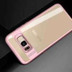 ZNP Luxury Silicone Phone Case for Samsung Galaxy S8 S9 Plus Note 8 Transparent PC & TPU Slim Case