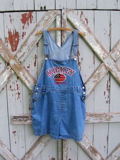 vintage Mickey Mouse shortalls #vintage #90s #MickeyMouse #shortalls #romper #overalls #xl