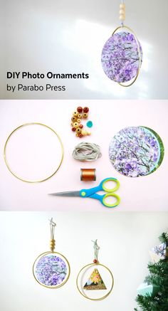 Easy DIY ornament--perfect for showing off your @parabopress prints!