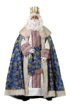 Traje del rey mago Melchor- Reyes Magos Nativity Costumes, Christmas Costumes, Country Costumes, Carnival Costumes, King Queen, Cosplay Costumes, Fur Coat, Kimono Top, Jackets