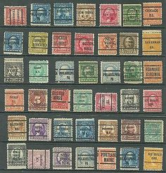 US Stamp Collection Of 42- mix 2¢ old Postage Due, Bureau Pre-Cancel New York