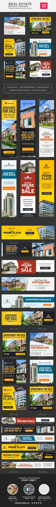 2032 best banners images on pinterest banner template web banners real estate banners bundle 6 sets 108 banners banner templateweb maxwellsz
