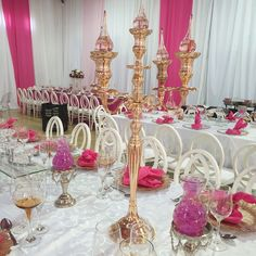 Pink wedding decor for Soweto couple