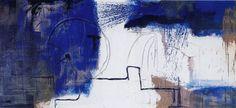 Mischtechnik auf Leinwand, Titel: Bild Nr. 5 aus dem Zyklus: Aurum, 115x250