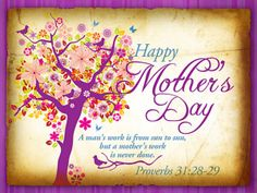 Verse of the Day and Daily Prayer for Mother's Day- May 10, 2015