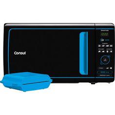Micro-ondas Consul Mais CME20 20 Litros Preto/Azul com função Tostex