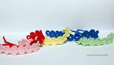 Braccialetti cuore a crochet vari colori