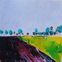 Buy Original Art by Janet Dyer | acrylic painting | Teal Trees, Netherlands at UGallery