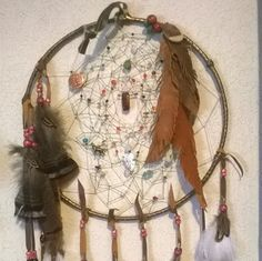 Leather Feathers  Large Dreamcatcher Dream by DreamCatcherMan