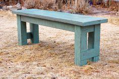 "The Friendly Home: 52"" Farmhouse Bench DIY"