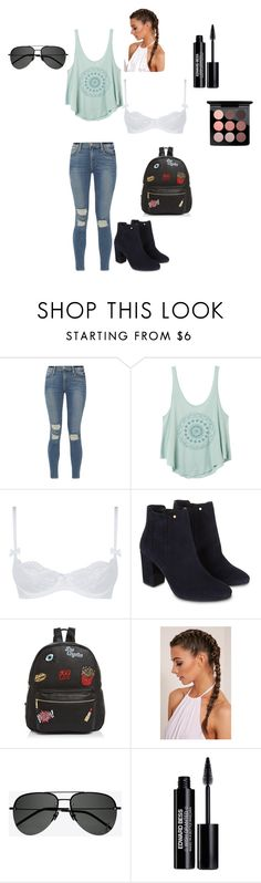 """""""Just a day in the city"""" by katmccombs on Polyvore featuring Frame, RVCA, L'Agent By Agent Provocateur, Monsoon, Ollie & B, Yves Saint Laurent, Edward Bess and MAC Cosmetics"""