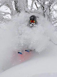 Pow! #skiing