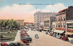 Businesses on West Side of Square Looking South, Marion, Indiana