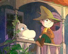 Snufkin and Moomin Les Moomins, Critters 3, Moomin Valley, Tove Jansson, Cartoon Shows, Fauna, Anime, My Idol, Cool Art