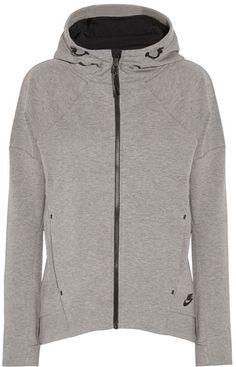 Nike - Tech Fleece Cotton-blend Jersey Hooded Top - Gray