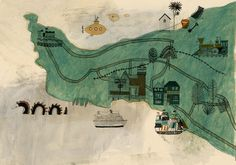 The start of a map of Falmouth for a guide.  Katt Frank