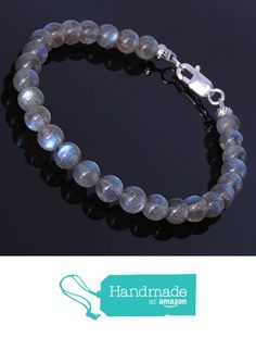 Amazon Handmade Men and Women Bracelet with 6mm High Quality Labradorite Beads and Genuine 925 Sterling Silver Spacers & Clasp from DiyNotion http://www.amazon.com/dp/B016WB20O4/ref=hnd_sw_r_pi_dp_f09lxb09PKNAN #handmadeatamazon