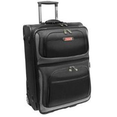 """Coleman Luggage 21"""" Expandable Rolling Carry-On Suitcase - Black (Apparel)"""