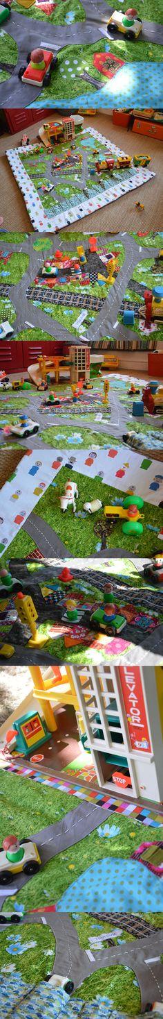 Le tapis circuit du croq - par Blisscocotte