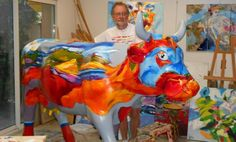 French artist Bernard Cadène: the painter of colours - www.MyFrenchLife.org