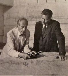 Pietro Belluschi and Walter Gropius at work on the Pam Am Building...