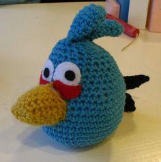 The Blue Angry Bird crochet pattern