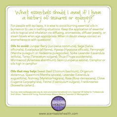 Essential oils to avoid or use when dealing with seizures & epilepsy. Essential Oil Safety, Essential Oil Uses, Doterra Essential Oils, Natural Essential Oils, Essential Oil Diffuser, Young Living Oils, Young Living Essential Oils, Clove Oil, Epilepsy Awareness
