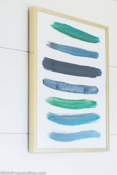 Do It Yourself Solar Electricity For Your House Easy Diy Wall Art Made From Paint Strokes From Jenna Kate At Home Easy Diy Art, Wall Painting, Easy Art Projects, Wall Art Painting