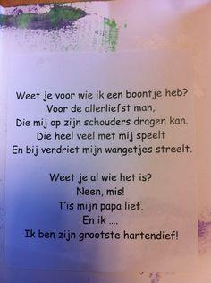 Gedichtje vaderdag Love You Dad, Mamas And Papas, School, Blog, Superheroes, Schools