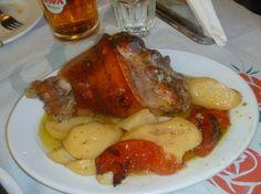 Athens Food Tours: Pork slow roasted w/potatoes | Discover Athens bite by bite! http://www.athenswalkingtours.gr/culinary-tours-athens #greekfood #greekcuisine