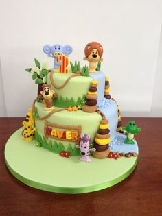 Raa Raa noisy lion 2nd birthday cake.  Made by me, Lindsay Mangan @ houseofrocco for my son Xavier's birthday