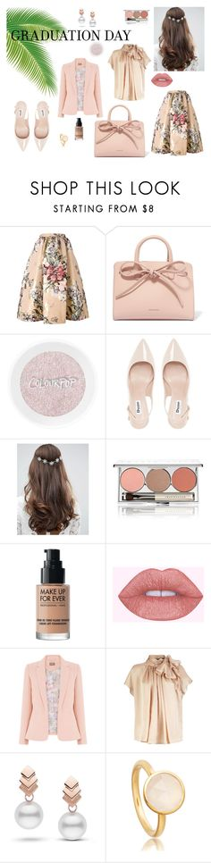"""Graduation in Pink"" by todaylifestyle ❤ liked on Polyvore featuring Fendi, Mansur Gavriel, Dune, ASOS, Chantecaille, MAKE UP FOR EVER and Escalier"