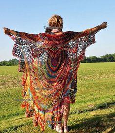 Bohemian Vest Crochet PATTERN Circle Vest Pattern/ Boho Vest